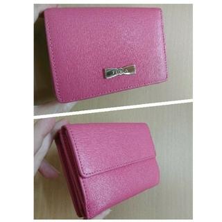 フルラ(Furla)の日曜まで✨超美品 FURLA 財布 リボン 本革 ピンク 確実本物 レザー(財布)
