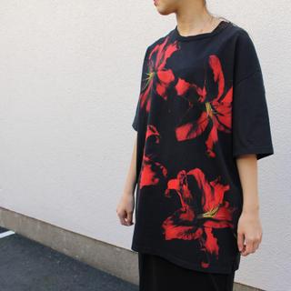 ラッドミュージシャン(LAD MUSICIAN)のLAD MUSICIAN Inkjet LILY Big T-Shirt(Tシャツ/カットソー(半袖/袖なし))