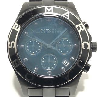 マークバイマークジェイコブス(MARC BY MARC JACOBS)のマークジェイコブス 腕時計 - MBM3083 黒(腕時計)