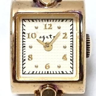 アガット(agete)のアガット 腕時計 - レディース シルバーGP(腕時計)