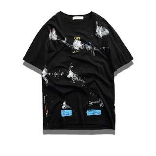 オフホワイト(OFF-WHITE)のA02【大人気】OFF-WHITE Tシャツ 男女兼用(Tシャツ(半袖/袖なし))