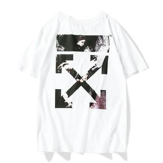 オフホワイト(OFF-WHITE)のA04【大人気】OFF-WHITE Tシャツ 男女兼用(Tシャツ(半袖/袖なし))