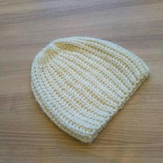 トゥモローランド(TOMORROWLAND)のニット帽子✴ホワイト✴ラメ(ニット帽/ビーニー)