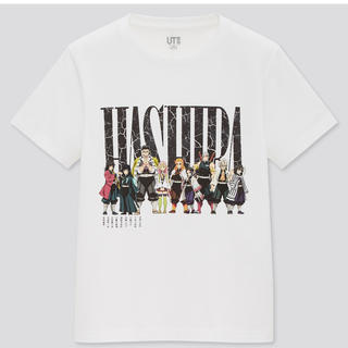 ユニクロ(UNIQLO)の新品 限定 ユニクロ UNIQLOx鬼滅の刃 コラボTシャツ KIDS 160白(Tシャツ/カットソー)