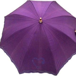 セリーヌ(celine)のCELINE(セリーヌ) 日傘 パープル×ゴールド(傘)