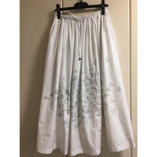 ミナペルホネン(mina perhonen)の新品!ミナペルホネン  kanata カナタギャザースカート(ロングスカート)
