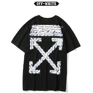オフホワイト(OFF-WHITE)のA19【大人気】OFF-WHITE Tシャツ 男女兼用(Tシャツ(半袖/袖なし))