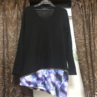 ミルクボーイ(MILKBOY)のCIVARIZE 変形ロンT ブルー サイズ46(Tシャツ(長袖/七分))