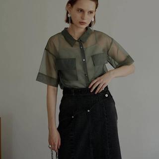 アメリヴィンテージ(Ameri VINTAGE)のAmeri vintage シアーシャツ(シャツ/ブラウス(半袖/袖なし))