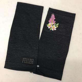 フェイラー(FEILER)の【新品】定価7500円+税 フェイラー FEILER サマーグローブ ブラック(手袋)
