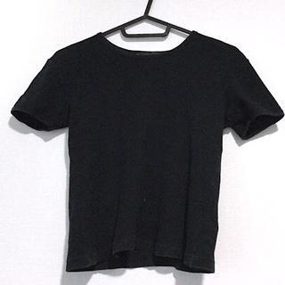 アニエスベー(agnes b.)のアニエスベー 半袖カットソー サイズ1 S 黒(カットソー(半袖/袖なし))
