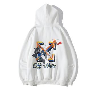 オフホワイト(OFF-WHITE)のA54 【大人気】OFF-WHITE パーカー 男女兼用(Tシャツ(半袖/袖なし))