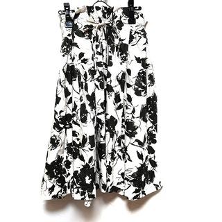 ノーブル(Noble)のノーブル スカート レディース 白×黒(その他)