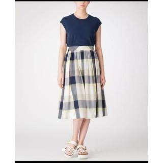 バーバリーブルーレーベル(BURBERRY BLUE LABEL)のクレストブリッジ ブルーレーベル チェック ロング スカート (ロングスカート)