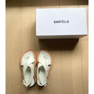 エンフォルド(ENFOLD)のENFOLD クロストング サンダル 36 エンフォルド 白(サンダル)
