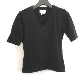 アニエスベー(agnes b.)のアニエスベー 半袖カットソー サイズ8 M 黒(カットソー(半袖/袖なし))