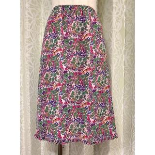シビラ(Sybilla)のSybilla(シビラ)ピンク花柄スカート(ひざ丈スカート)