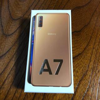 サムスン(SAMSUNG)の早い者勝ち!新品未使用 Galaxy A7 64GB SIM FREE(スマートフォン本体)