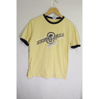 オールドネイビー(Old Navy)のOLD NAVY CITY CHAMPSリンガーT/USAイエローアメカジ♪S(Tシャツ/カットソー(半袖/袖なし))