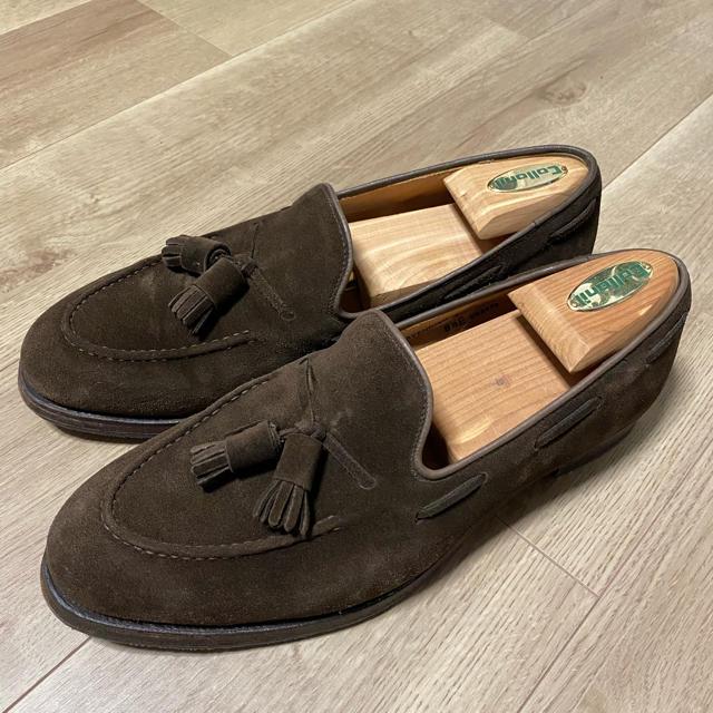 Crockett&Jones(クロケットアンドジョーンズ)のクロケット&ジョーンズ キャベンディッシュ ブラウン スエード メンズの靴/シューズ(スリッポン/モカシン)の商品写真