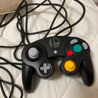 ニンテンドーゲームキューブ(ニンテンドーゲームキューブ)のゲームキューブ スマブラブラック コントローラー(その他)
