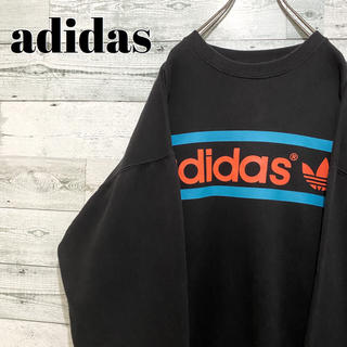 アディダス(adidas)の【人気】アディダスオリジナルス☆ビッグロゴ ビッグサイズ ブラック スウェット(スウェット)