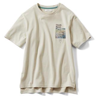 フェリシモ(FELISSIMO)のモネ 印象派アートグラフィックTシャツ(Tシャツ(半袖/袖なし))