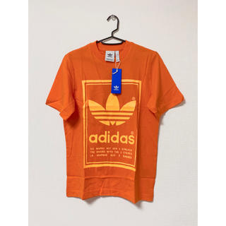 アディダス(adidas)の新品 adidas originals ビッグロゴtee オレンジ(Tシャツ/カットソー(半袖/袖なし))