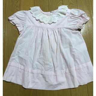 ベビーディオール(baby Dior)の難あり ベビーディオール 半袖 襟フリル ワンピース 80 (ワンピース)