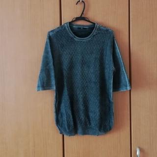 ウィゴー(WEGO)のニット風グレーTシャツ(Tシャツ/カットソー(半袖/袖なし))