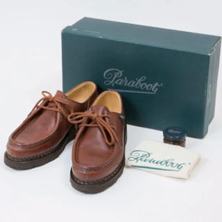パラブーツ(Paraboot)のParaboot / パラブーツ ミカエル  ☆パリ直営店購入、未使用品☆(ローファー/革靴)