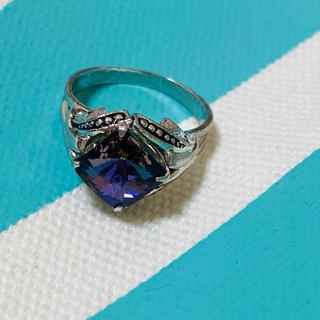 ☆アメジストカラーストーンリング☆指輪☆9号☆(リング(指輪))