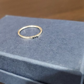 アガット(agete)のagete ブラックダイヤリング(リング(指輪))