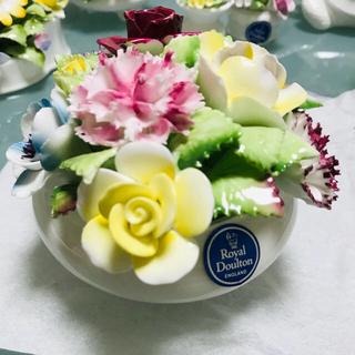 ロイヤルドルトン(Royal Doulton)のロイヤルドルトン  陶器 陶花 ボーンチャイナ お値下げ(置物)