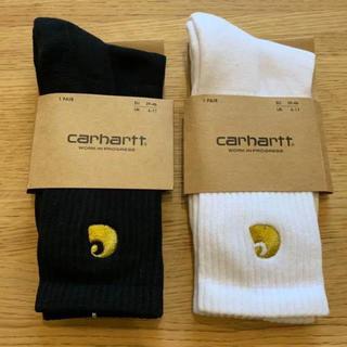 カーハート(carhartt)の【新品】カーハート ソックス 靴下 ブラック&ホワイト セット(ソックス)