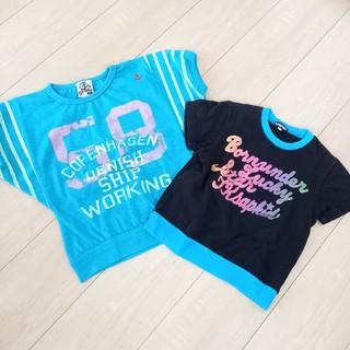 シスキー(ShISKY)の[送料込]女の子 Tシャツ2点セット 110cm(Tシャツ/カットソー)
