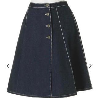 ダズリン(dazzlin)のダズリン デニム ステッチ 巻きスカート(ひざ丈スカート)