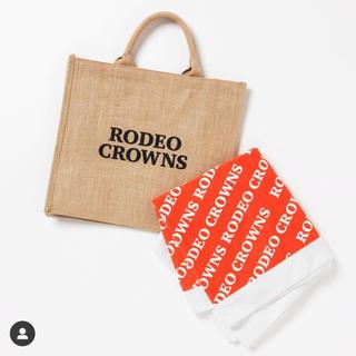 ロデオクラウンズワイドボウル(RODEO CROWNS WIDE BOWL)のロデオクラウンズワイドボウル ノベルティ ジュートトートバッグ バスタオル(トートバッグ)