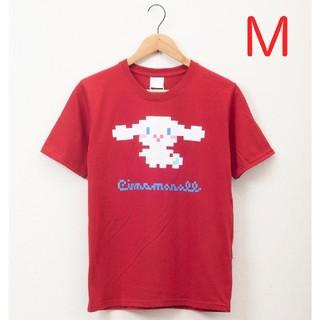 サンリオ(サンリオ)の【新品未使用】Mサイズ シナモロール×TOKYOピクセル 半袖Tシャツ レッド!(Tシャツ/カットソー(半袖/袖なし))