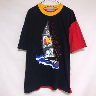 カステルバジャック(CASTELBAJAC)のカステルバジャック Tシャツ ヨット マリン 黒 赤 コットン ポリ バイカラー(シャツ)
