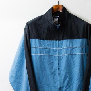リーボック(Reebok)のReebok リーボック 80〜90年代 ナイロンジャケット 青×黒(ナイロンジャケット)