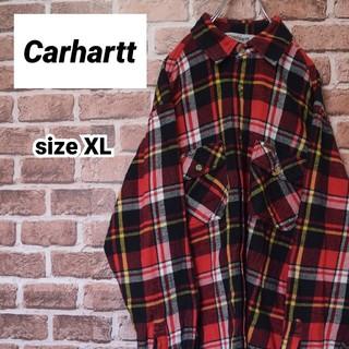 カーハート(carhartt)の《カーハート》チェック ネルシャツ XLビッグサイズ 美品(シャツ)