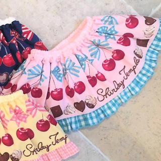Shirley Temple - シャーリーテンプル チェリーチョコ スカパン ベビーフリー ピンク