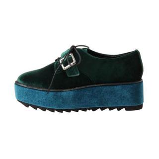 ジュエティ(jouetie)のjouetie ベロア厚底シューズ(ローファー/革靴)
