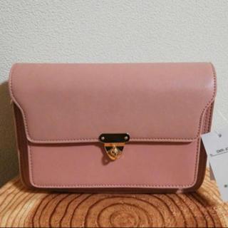 シマムラ(しまむら)のくすみピンク ショルダーバッグ(ショルダーバッグ)