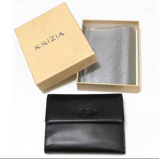 クリツィア(KRIZIA)の新品【KRIZIA クリッツィア】3つ折り財布 ブラック 黒 ウォレット レザー(財布)