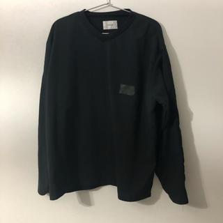 コモリ(COMOLI)の早い者勝ち stein トップス 黒 オーバーサイズ(Tシャツ/カットソー(七分/長袖))