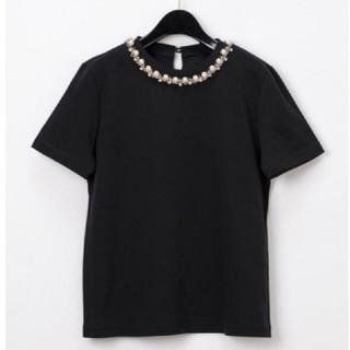 グレースコンチネンタル(GRACE CONTINENTAL)のGRACE CONTINENTAL♡パールチェーントップ✨サイズ36♡ブラック♡(Tシャツ(半袖/袖なし))
