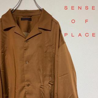 センスオブプレイスバイアーバンリサーチ(SENSE OF PLACE by URBAN RESEARCH)のセンスオブプレイス オープンカラーシャツ(シャツ)