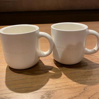 ディーンアンドデルーカ(DEAN & DELUCA)の新作‼️  DEAN & DELUCA  マグカップ マットホワイト 2個セット(グラス/カップ)